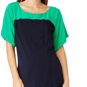 ROSIE POPE Maternity Green & Navy Blouse Top